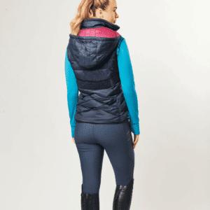 Dublin Gemma Puffer Vest Ink- Navy-Back