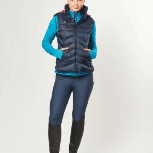 Dublin Gemma Puffer Vest Ink- Navy-Full