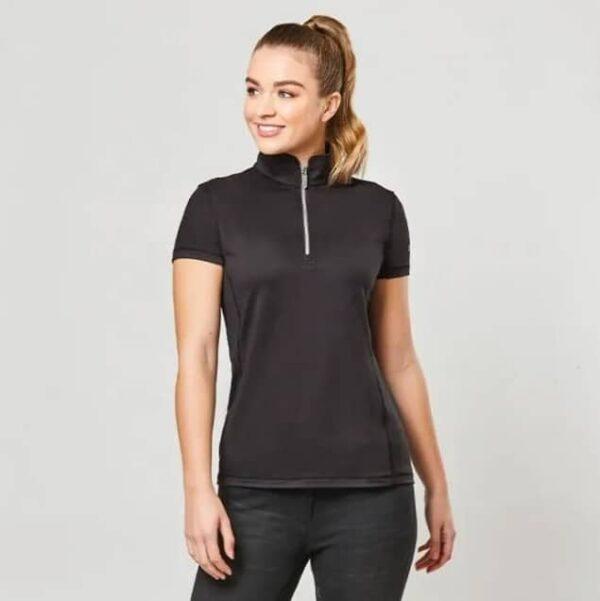 Dublin Kylee Short Sleeve Shirt II-Black-Front
