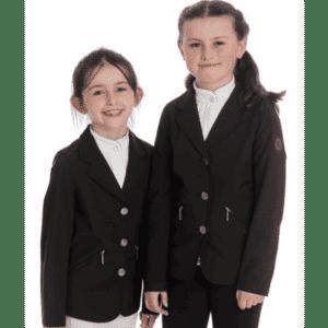 Girls Competition Jacket- Black Front Half