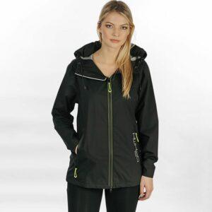 Horseware Unisex H2O Jacket Black-LF-Front