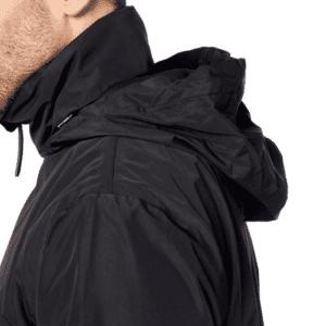 Men's Defender Jacket-Black-Hood