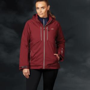 Weatherbeeta Tania Waterproof Jacket-Burgundy-Front